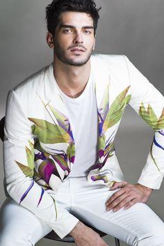 Givenchy's cotton blazer, Alexander Wang's cotton T-shirt and Acne's cotton denim jeans.