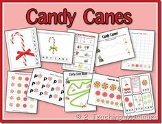 Free Candy Cane Printable Set from 2 Teaching Mommies