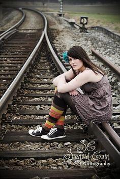 on the train tracks...for senior pics...