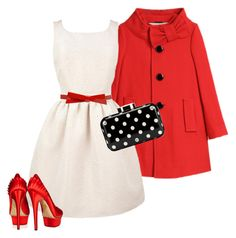 A Christmas Outfit for Jess by dresslikenewgirl on Polyvore featuring Jack Wills, Kate Spade, Charlotte Olympia, Lulu Guinness, jess day, zooey deschanel and new girl