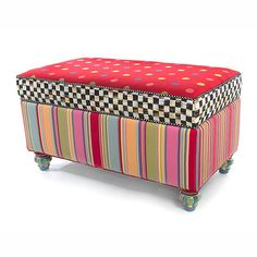 MacKenzie-Childs - Playhouse Storage Bench#.UvvQ8d7nZdh