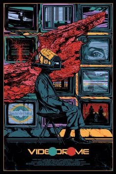 Videodrome film poster by Kilian Eng Horror Movie Posters, Best Movie Posters, Cinema Posters, Movie Poster Art, Film Posters, Horror Films, Kilian Eng, Lost Poster, Arte Cyberpunk