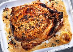 For a special Sunday roast, try this chicken recipe made more succulent with a buttermilk and rosemary marinade. Buy ingredients for this recipe at Sainsbury's
