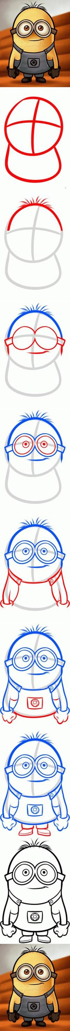 DIY Draw a Minion from Despicable Me
