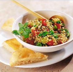 A mi izraeli konyhánk: Bulgur saláta Quinoa, Fine Dining, Tacos, Food And Drink, Mexican, Ethnic Recipes, Bulgur, Mint, Food And Drinks