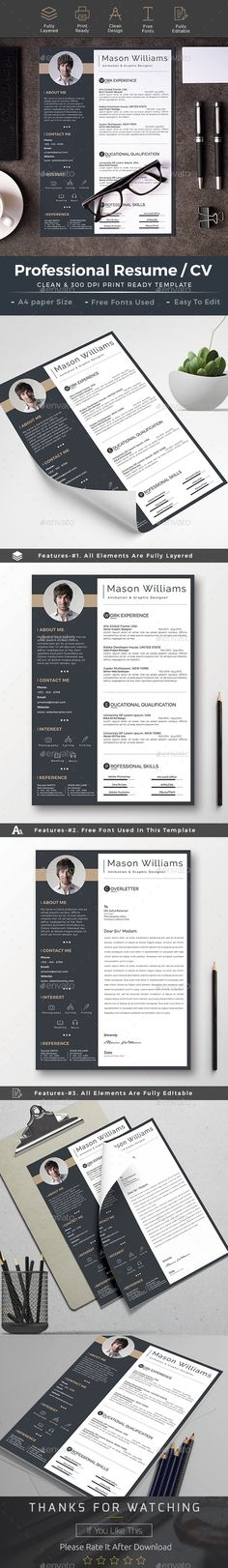 Resume CV Resume cv, Cv template and Simple resume - professional resume paper