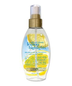The best products to lighten your hair for summerscroll through for tips OGX Sunkissed Blonde Lemon Highlights Highlight Activating Citrus Oil Mist 799 at Ulta Lemon Highlights, Natural Highlights, Blonde Highlights, Summer Hairstyles, Diy Hairstyles, Pretty Hairstyles, Latest Hairstyles, Lighten Hair Naturally, How To Lighten Hair