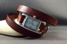 Wrap Around Leather Watch Women's Leather Watch by 4MLeatherDesign, $55.00
