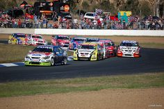 V8 Supercars at Queensland raceway 2008. As a photographer I have a passion for photographing the V8 supercars.