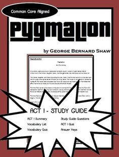 pyg on the play vs greek myth pyg on allusion george comprehensive study guide to accompany george bernard shaw s play pyg on this study guide only includes