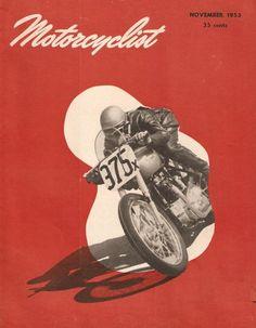 pinterest.com/fra411 #Motorcyclist, november 1953 ::