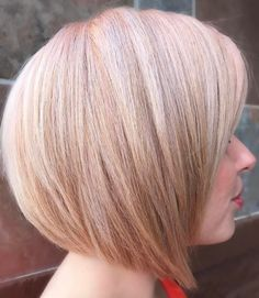 Layered Strawberry Blonde Bob
