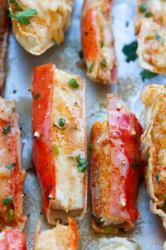 King crab legs, baked with butter. Bake Crab Legs Recipe, King Crab Recipe, Crab Bake, Baked King Crab Legs Recipe, Lobster Recipes, Crab Recipes, Seafood Dinner, Fish And Seafood, Seafood Meals