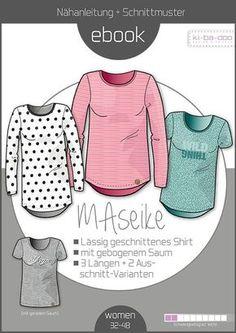 Ebook Shirt MAseike, Schnittmuster für ein Shirt für Damen Ebook - Schnittmuster und Anleitung als Pdf Datei Versandkostenfrei