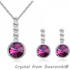 Bijouterie Crystal from Swarovski Jewelry Sets Necklaces Earrings Alloy 18K White Gold Plated Fashion Womens Accessories 10356