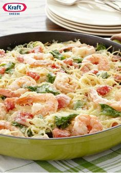 Shrimp & Pasta Formaggio – In need of a quick dinner option during the hectic holiday season? With tender shrimp in creamy sauce, this easy pasta recipe is topped off with two different cheeses, and ready to enjoy in just 20 minutes. Problem solved!