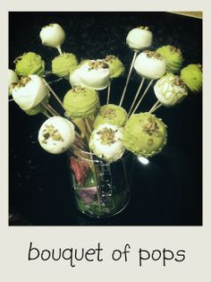 I know I already did a pistachio cupcake, but this time they are cake pops. I was going to make some pina colada cupcakes, but I forgot all. Pistachio Muffins, Pistachio Cupcakes, Pistachio Macarons, Pistachio Dessert, Pistachio Ice Cream, Cake Pops, Pina Colada Cupcakes, Icebox Pie, Cake Truffles