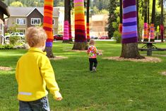 Yarn Bombing! would love to do something as an art instillation at a school with my students