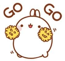 (๑・㉨・๑) ✮ ANIME ART ✮ Maolang with Pom Pom saying Go, Go
