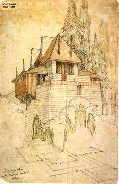 Frank Lloyd Wright, Cabin, Lake Tahoe