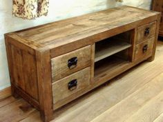 unusual solid wood media cabinet. This beautiful reclaimed elm TV cabinet will add style and elegance to your  lounge An unusual piece of solid chunky furniture with two could be a great in bedroom place on wall