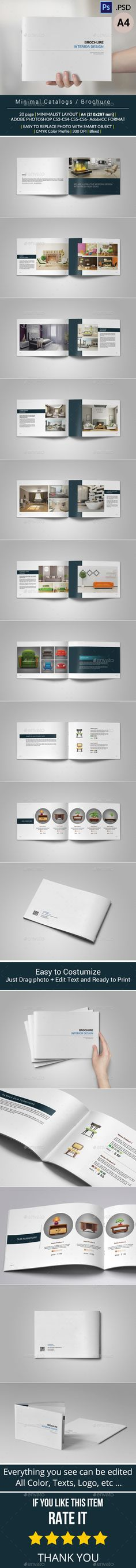Clean And Simple Catalogue Template Catalog design, Catalog and