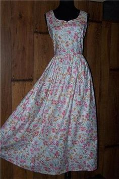 Vintage Laura Ashley. Classic silhouette with interesting neck shape.
