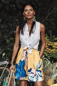 Tropicale Skirt - I am IN LOVE with this look! Anthropologie is my total go to!!
