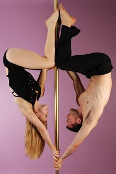 Suzie Q and Toby J, king and queen of the double pole routine