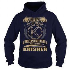 KRISHER Last Name, Surname Tshirt