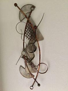 "Vintage Abstract Brutalist Wall Art Sculpture Torch Cut Steel Signed Nelson 41"" Brutalist, Sculpture Art, Dream Catcher, Steel, Wall Art, Abstract, Antiques, Vintage, Decor"
