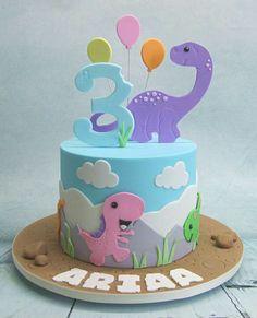 Image result for tartas de dinosaurios en fondant