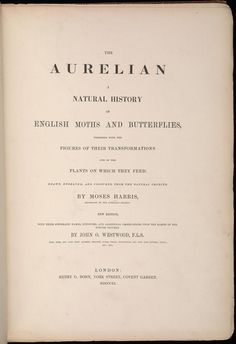 Moses Harris 1766. The Aurelian: A natural history of English moths and butterflies