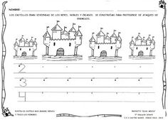"Cole de colores: FICHAS ""PROYECTO EDAD MEDIA"" Castle Project, Château Fort, Spanish Language, Middle Ages, Sheet Music, Diagram, 1, Teaching, Royals"