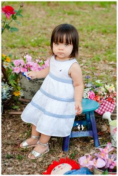 Cute Baby Girl! Flower Market children Photography