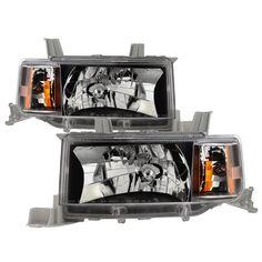 Black 2004 2005 2006 Scion xB Headlights Replacement Headlamps Left+Right 04 05 06 Pair Set 8117052440, 8113052440,SC2518101, SC2519101