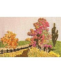 Cross Stitch Kits, Cross Stitch Charts, Embroidery & Tapestry Kits - Very Crafty Embroidery Flowers Pattern, Hand Embroidery Stitches, Silk Ribbon Embroidery, Embroidery Art, Cross Stitch Embroidery, Hand Embroidery Projects, Creative Embroidery, Cross Stitch Kits, Cross Stitch Charts