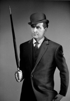 """Patrick Macnee as John Steed in """"The Avengers"""" Emma Peel, Terry Thomas, The Avengers, Patrick Macnee, Laurel Et Hardy, Tv Vintage, Spy Shows, Dame Diana Rigg, Classic Tv"""