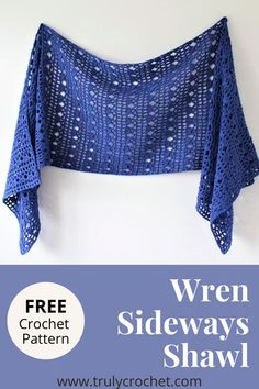 This is a free crochet shawl pattern which is a beautiful lacy shawl with easy to do stitches, this is a beginner plus crochet pattern and is worked sideways as i know many of you prefer to work your shawls like that instead of crocheting a long chain. Easy and fun to make and perfect for the Summer. Prayer Shawl Crochet Pattern, Prayer Shawl Patterns, Poncho Au Crochet, Crochet Prayer Shawls, Beau Crochet, Crochet Wrap Pattern, Crochet Shawls And Wraps, Crochet Scarves, Crochet Clothes