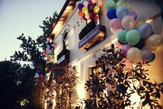 A whimsical garden Melbourne Wedding featuring balloons, an Up! Balloon style theme and photographs by Leo Farrell. Wedding Blog, Wedding Planner, Dream Wedding, Wedding Ideas, Wedding Reception Decorations, Wedding Venues, Erin Andrews, Melbourne Wedding, Balloon Decorations