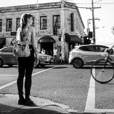 #march31  Why did the chick cross the road?  #fitzroygirl #dappermikephothography #melbourne #humans #fitzroy #collingwood #cliftonhill #brunswick #dapper #beard #hipster #urban #photography #canon #australia #canonphotography  #random #melbournegrams #love #art #streetphotography #streetart #graffiti #stars #nature #streets #life #architecture
