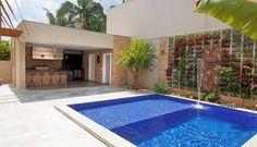 Retrofit - Residência Alphaville (Kimden: Moran e Anders Arquitetura) Backyard Pool Designs, Swimming Pool Designs, Swimming Pools, Minimalist House Design, Minimalist Decor, Home Building Design, My Pool, Small Pools, Dream Pools