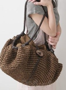 """New Cheap Bags. The location where building and construction meets style, beaded crochet is the act of using beads to decorate crocheted products. """"Crochet"""" is derived fro Crochet Tote, Crochet Handbags, Crochet Purses, Bead Crochet, Straw Handbags, Purses And Handbags, Leather Saddle Bags, Straw Tote, Jute Bags"""