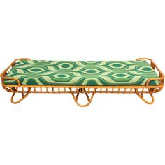 1stdibs - Rattan daybed with '60 fabric Rohe the Netherlands explore items from 1,700 global dealers at 1stdibs.com