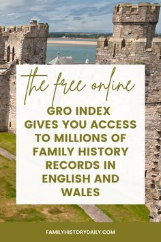 If your family history research leads you back to England or Wales, the records kept by the General Register Office (GRO), and the GRO Index online, should absolutely be on your short list of amazing resources.