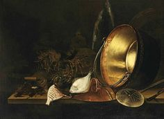Unknown (Dutch) Still Life with Copper Pot and Fish 17th century