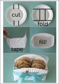 DIY paper plate bowl
