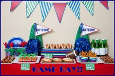 Superbowl Party with free printables