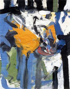 Untitled 1953.Alfred Leslie (b1927) is an American artist and filmmaker. He first achieved success as an Abstract Expressionist painter, but changed course in the early 1960s and became a painter of realistic figurative paintings. http://www.alfredleslie.com/