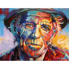 Keith Richards I love painting portraits, spontaneous realism gives me the freedom to go wild with c Portrait Acrylic, Portrait Art, Painting Portraits, Keith Richards, Voka Art, A Level Art, Colorful Paintings, Love Painting, Art Sketchbook